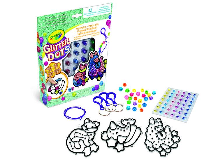 Set glitter dots llaveros