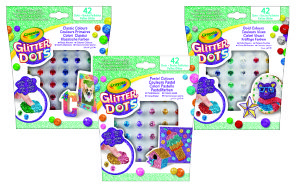Set glitter dots surtido basico 3 colores