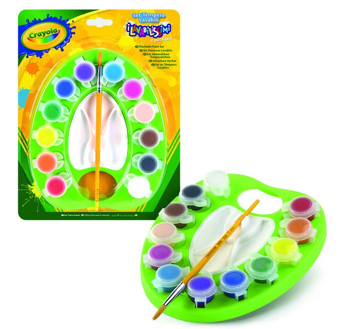 Acuarelas lavables crayola 12 colores con paleta
