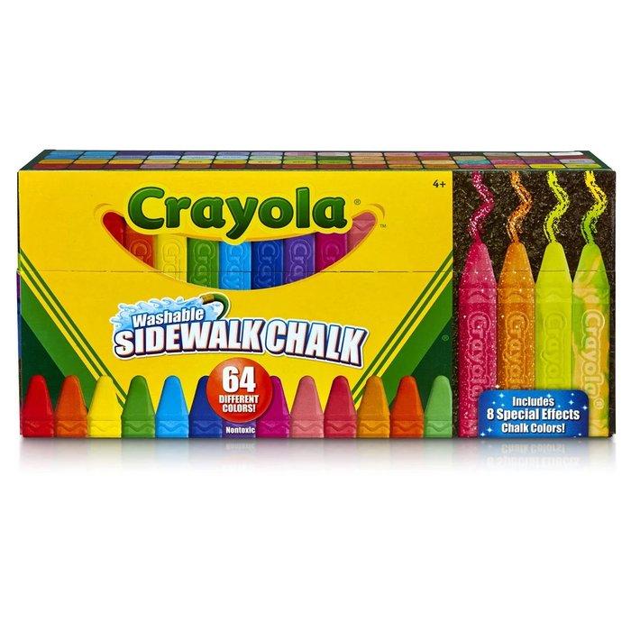 Tiza crayola suelo lavables 64 colores surtidos