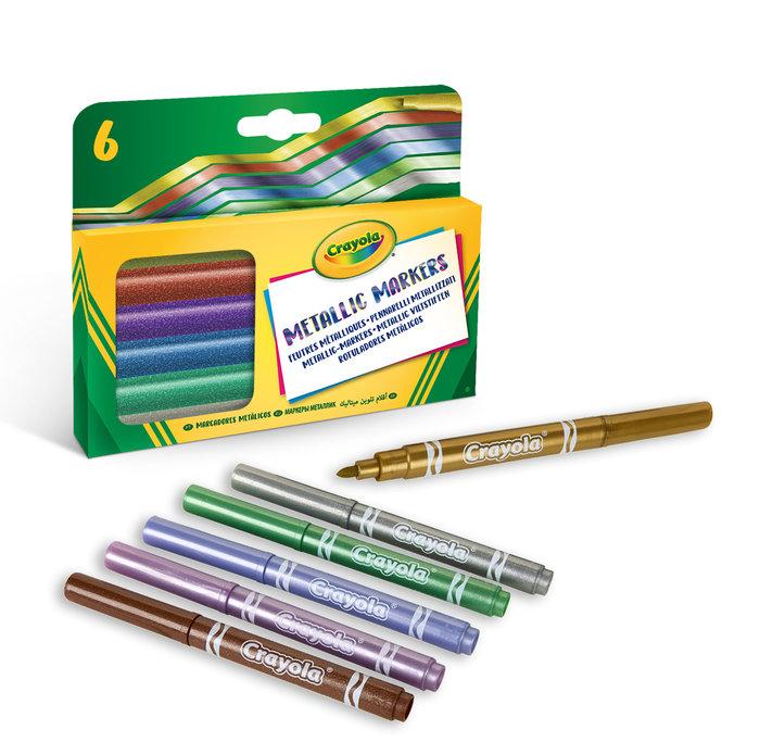 Rotulador crayola 6 colores efectos metalizados