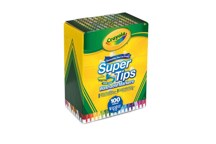 Rotuladores crayola supertips 100 colores surtidos