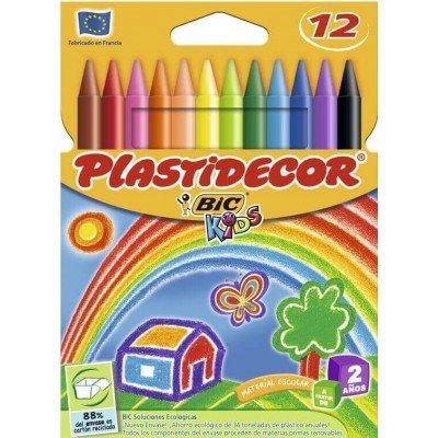 Cera plastidecor c/12 colores surtidos nuevo