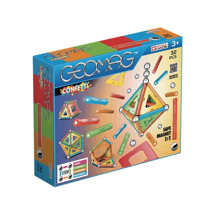 Juego de construccion geomag confetti 32 piezas