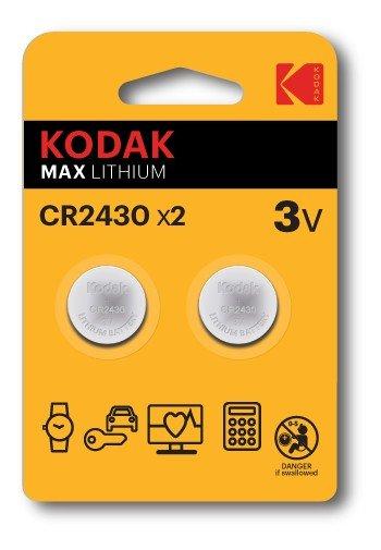 Pila boton litio kodak ultra 2430  2 unidades