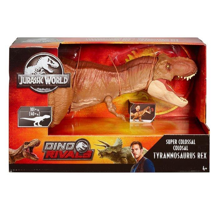 Figura jurassic world tyrannosaurus rex supercolosal