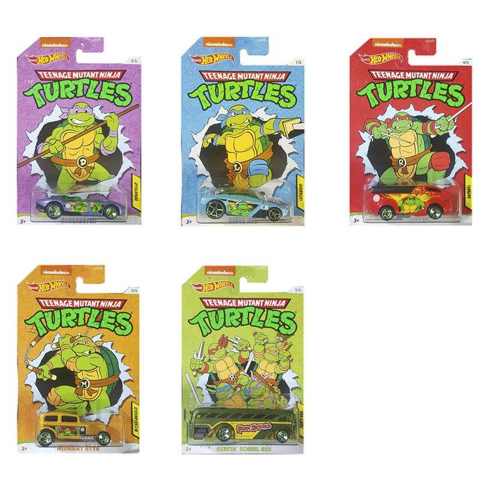 Coches hot wheels surtido pixar marvel y tortugas ninja