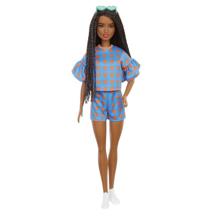 MuÑeca barbie fashionista conjunto corazones
