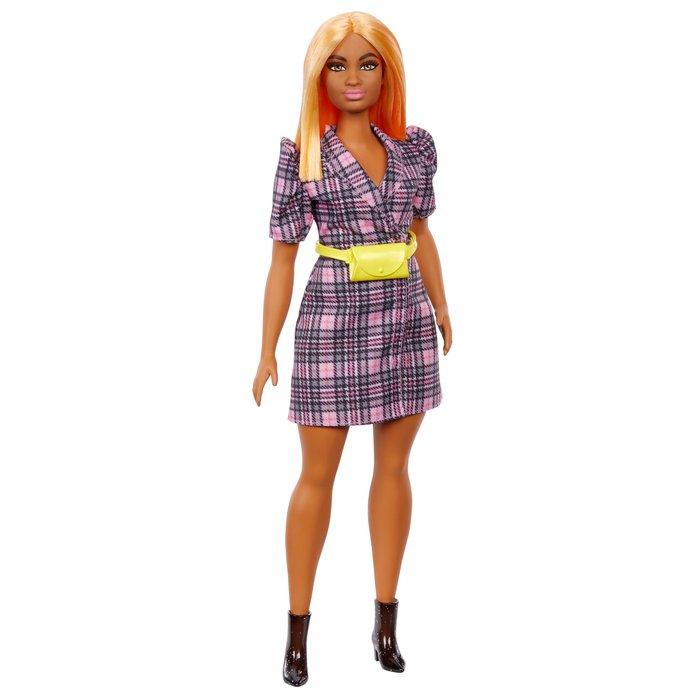 Barbie fashionista vestido blazer cuadros