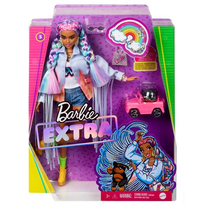 Barbie extra trenzas de colores