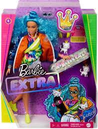 Barbie extra pelo azul rizado