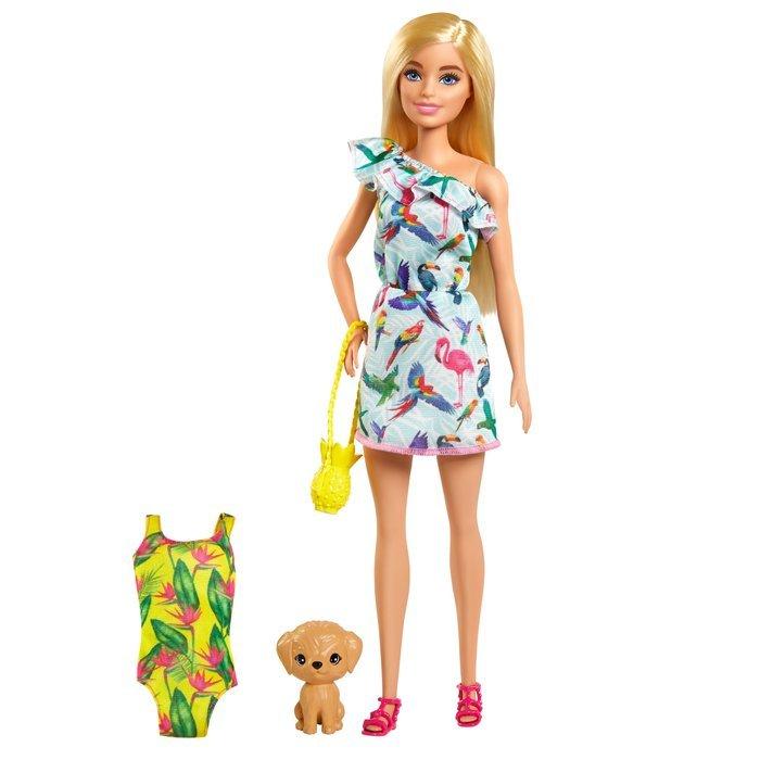 Barbie con maleta y accesorios