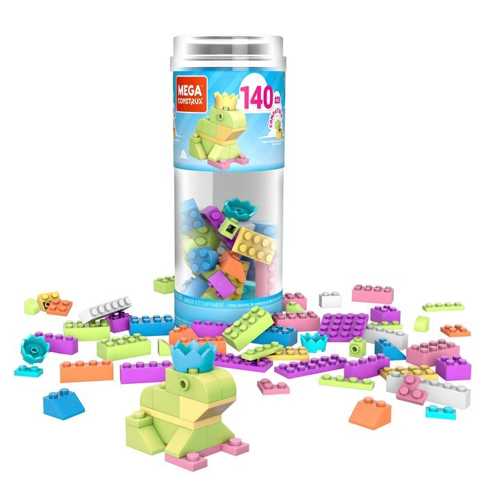 Mega bloks tubo mediano 140 piezas (mod. surtidos)
