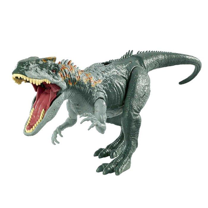 Jurassic world ataque rugido allosaurus