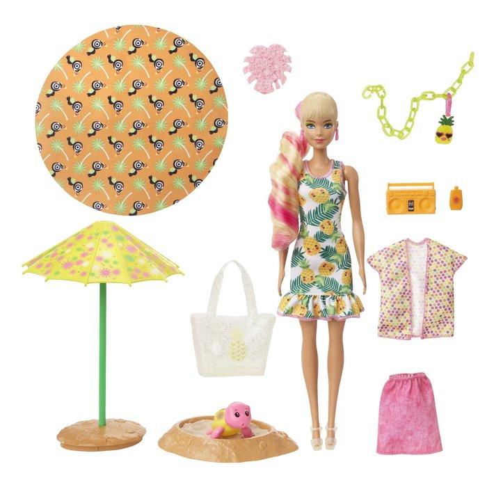 MuÑeca barbie color reveal con espuma piÑa