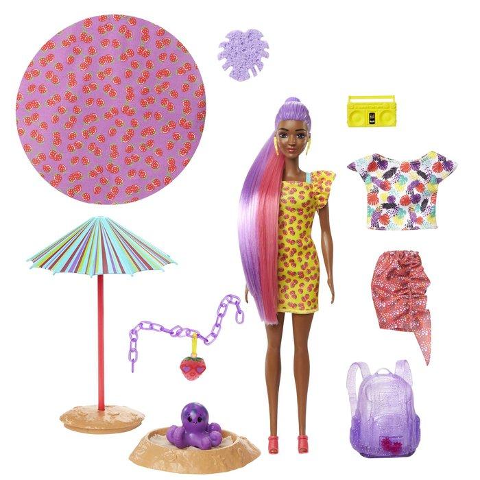 MuÑeca barbie color reveal con espuma fresa
