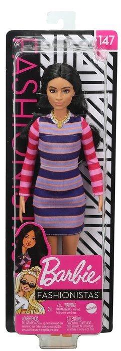 Barbie fashionista vestido rayas manga larga