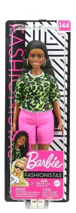 Barbie fashionista camiseta neon leopardo
