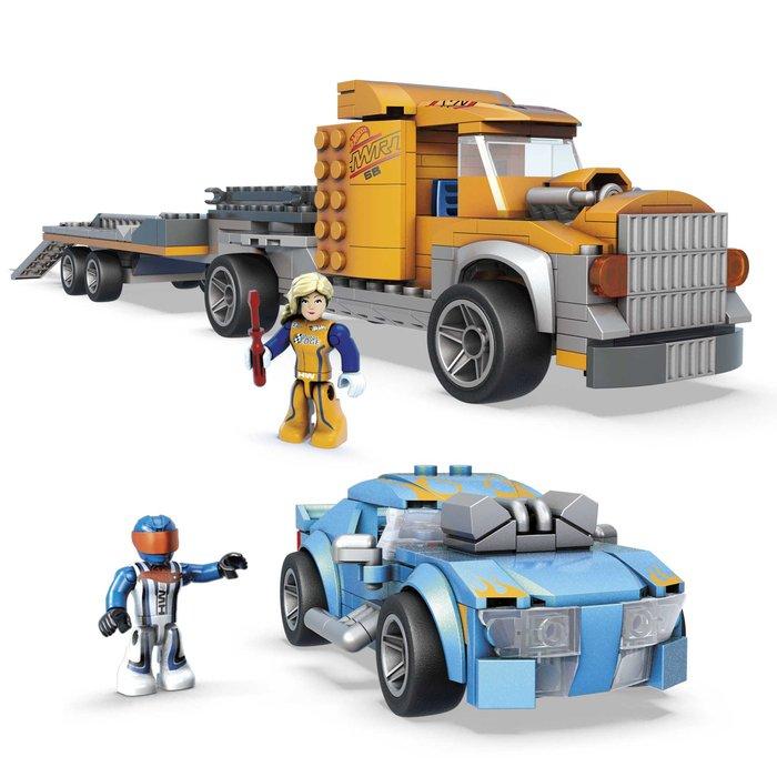 Mega construx hot wheels camion de transporte + coche
