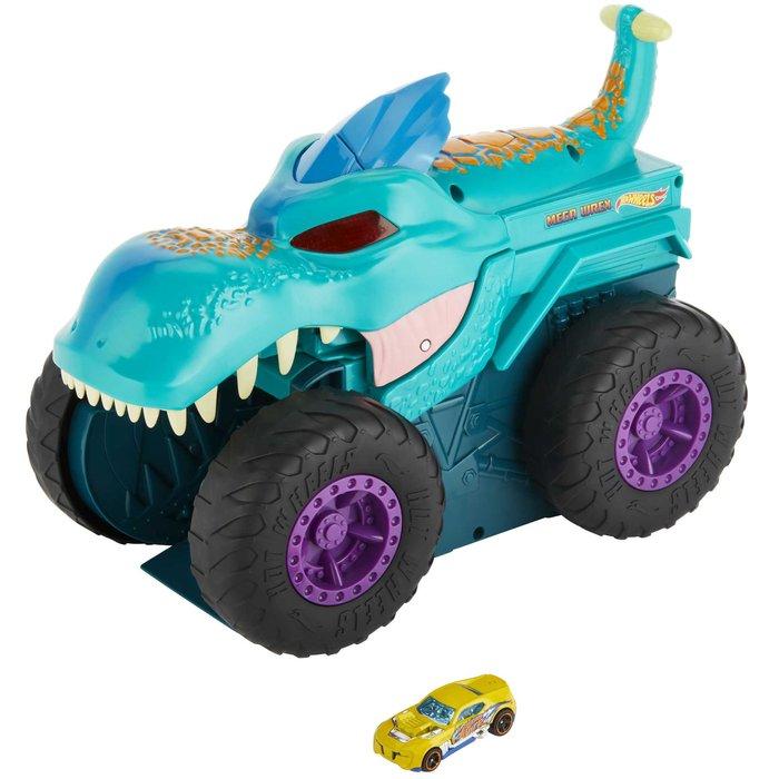 Hot wheels monster trucks mega rex mastica coches