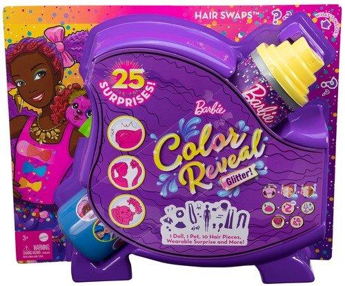 MuÑeca barbie color reveal peinados lazos