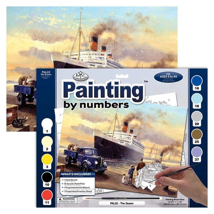 Pintar por numeros 13 piezas barco