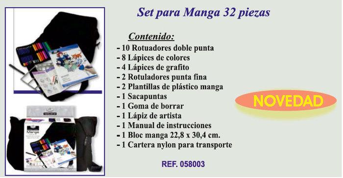 Set para manga 32 piezas