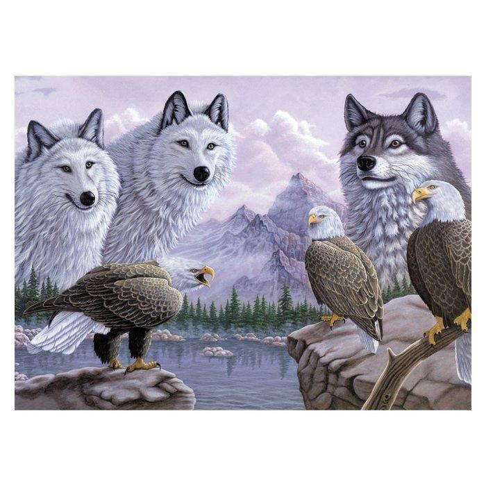 Pintar por numeros 13 piezas lobos