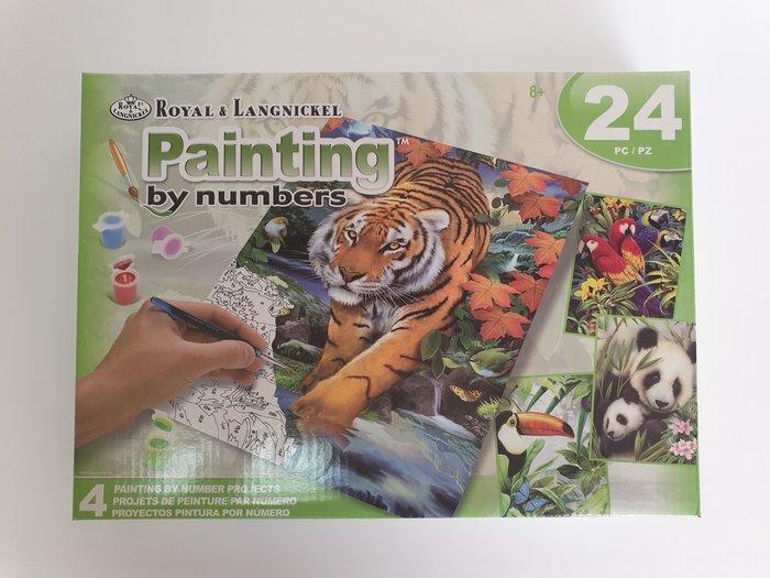 Pintar por numeros 24 piezas