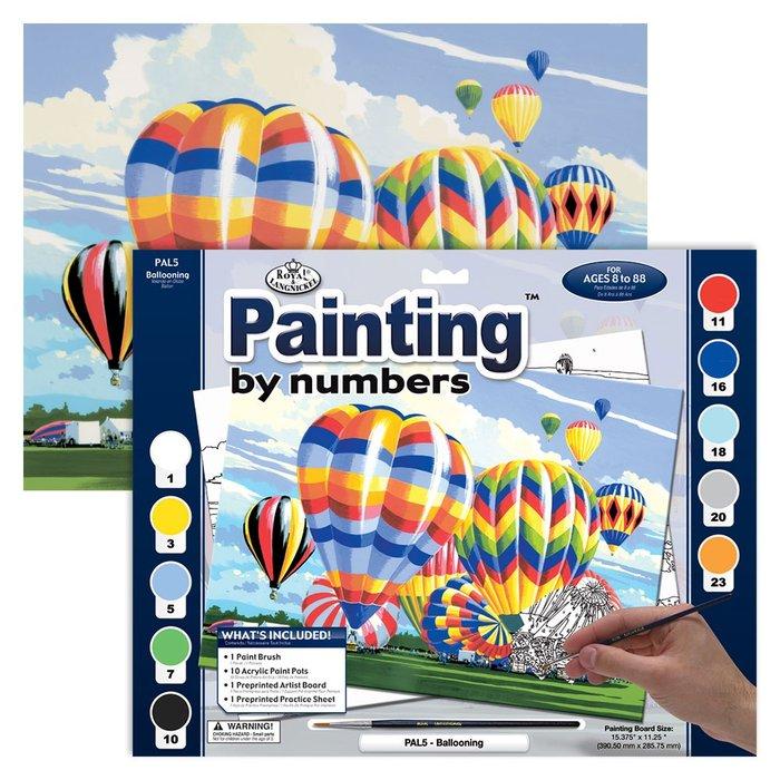 Pintar por numeros 13 piezas globos