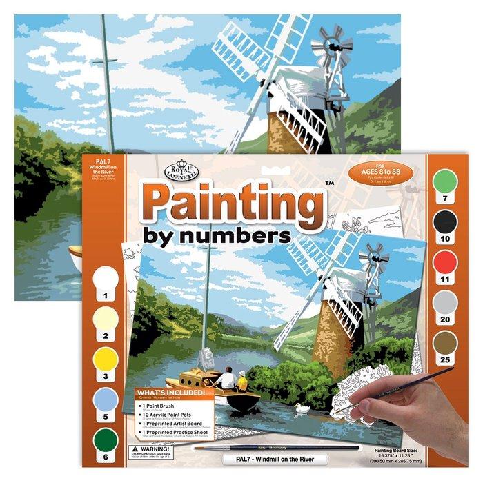 Pintar por numeros 13 piezas molino