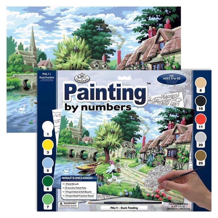 Pintar por numeros 13 piezas puente