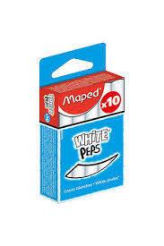 Tizas blancas x10 caja