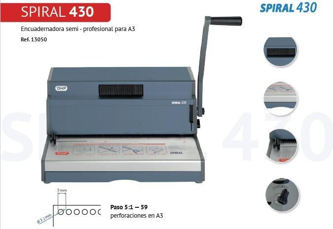 Encuadernadora spiral 430 semi profesional para a3