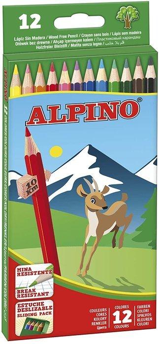 Lapiz alpino 12 colores 654 largo