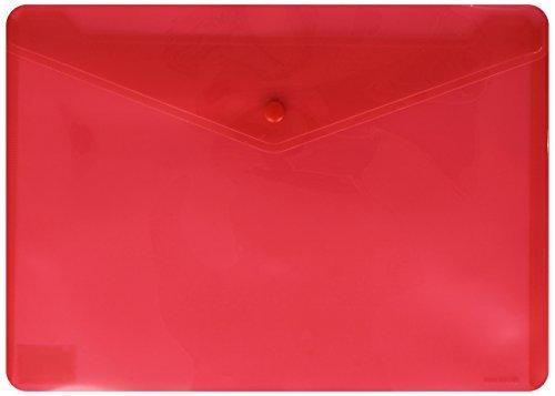 Sobre pp f solapa broche plastico rojo