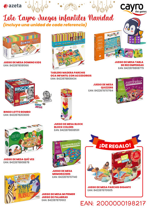 Lote juegos infantiles cayro navidad 21