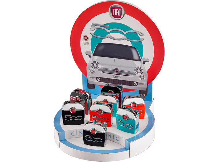 Expositor 8 encendedores fiat 600 metal