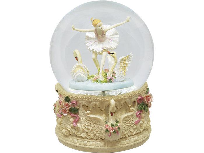 Bola musical bailarina cisnes 16cm