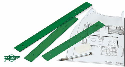 Regla faibo 30cm verde 106