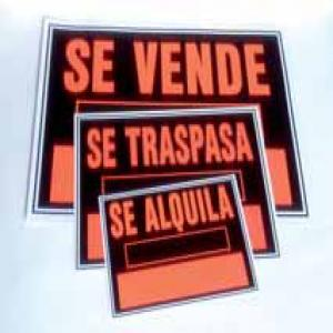 Cartel fluorescente 35x25 se vende