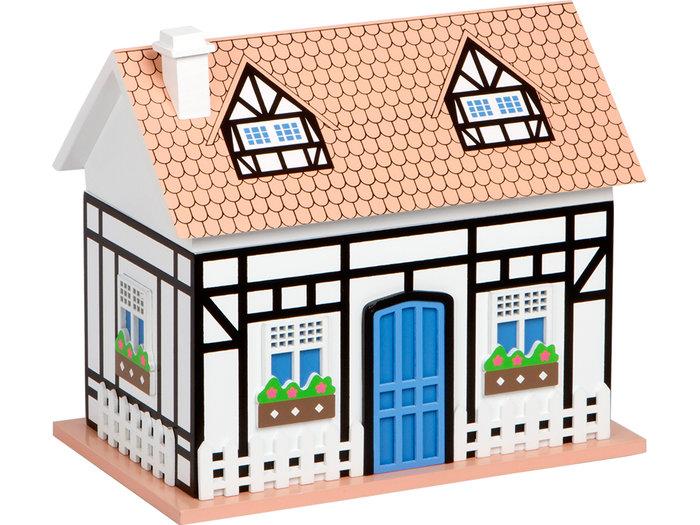 Joyero musical casa blanca  21,5x13x18,5cm