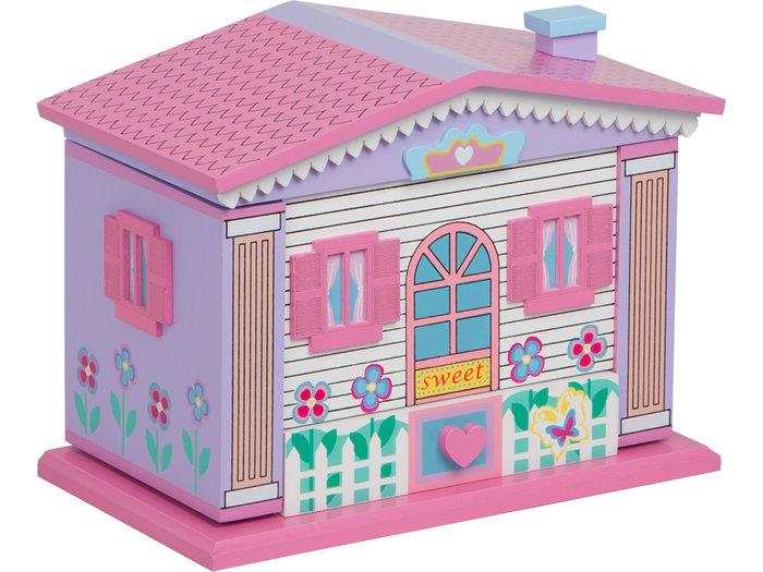 Joyero musical casa sweet 21,5x12,5x16,5cm