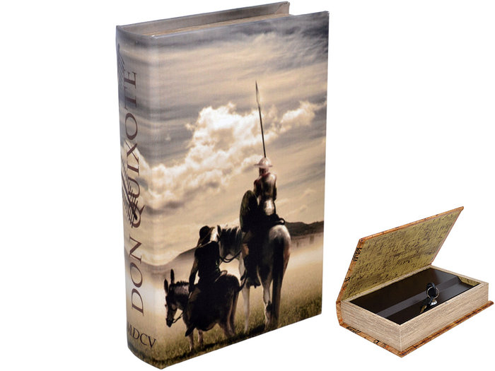 Libro caja fuerte don quijote 16x5x24cm
