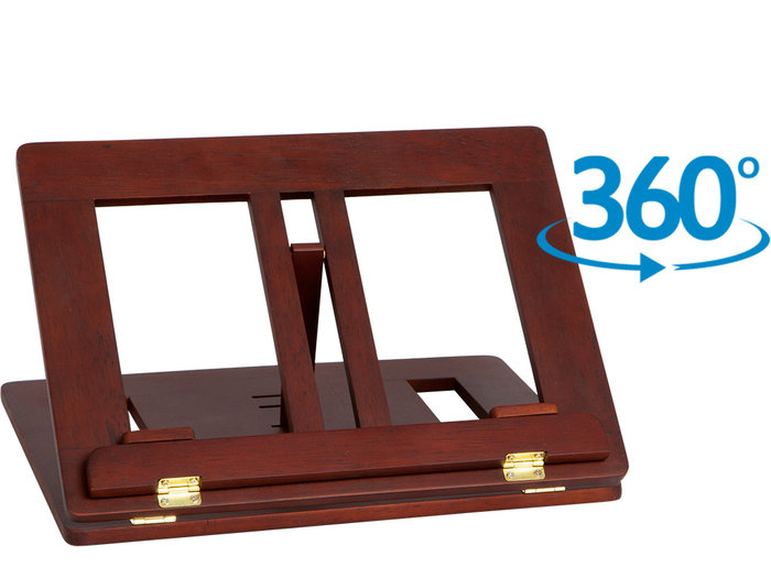 Atril madera giratorio nogal c/clips 543 35x26 azor