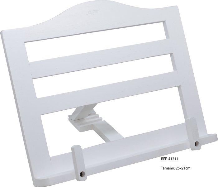 Atril madera pequeÑo blanco c/clips 375 25x21cm