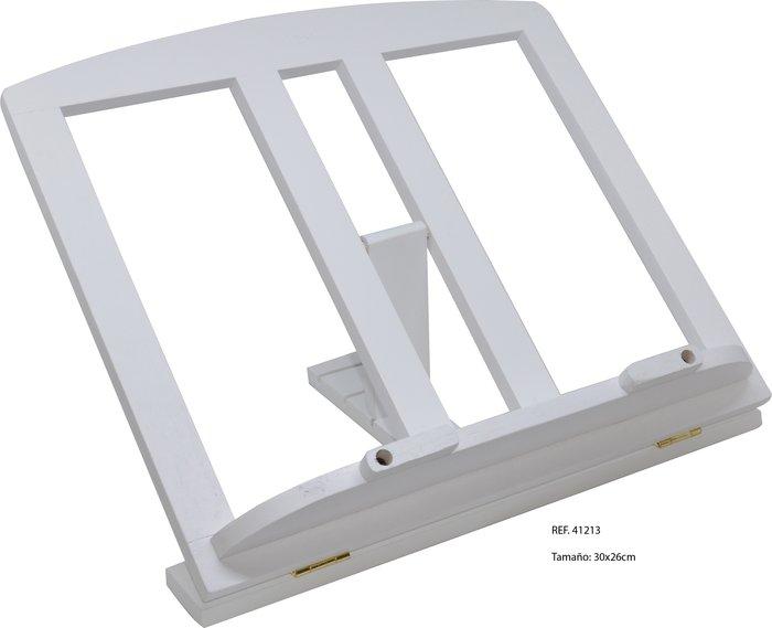 Atril madera mediano blanco c/clips 709 30x26cm