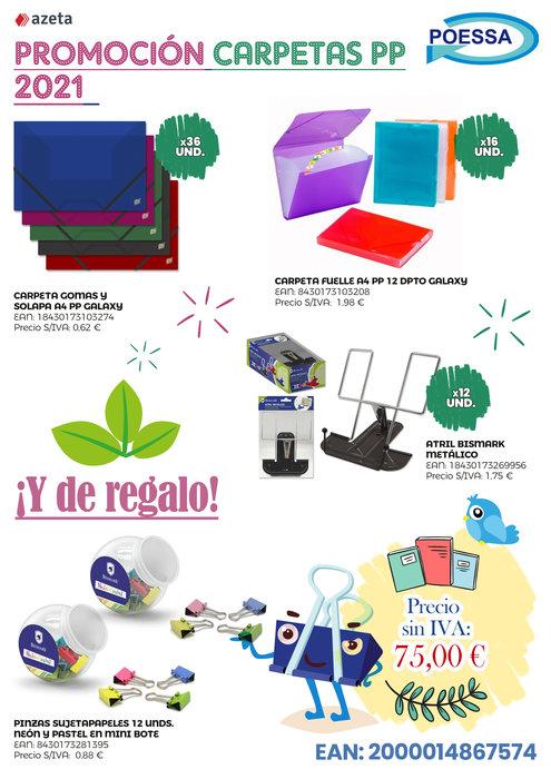 Promocion carpetas pp poessa 2021