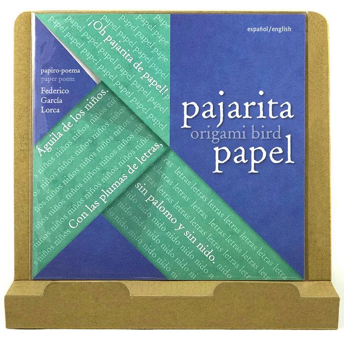 Pajarita de papel federico garcia lorca expositor 10 uds