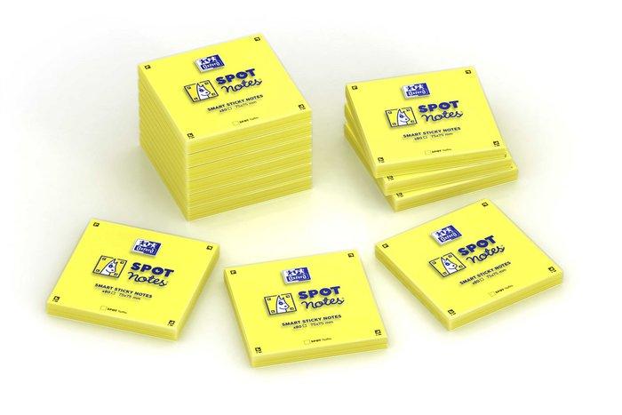 Notas adhesivas 6u spot notes 75x75 mm 80h amarillo